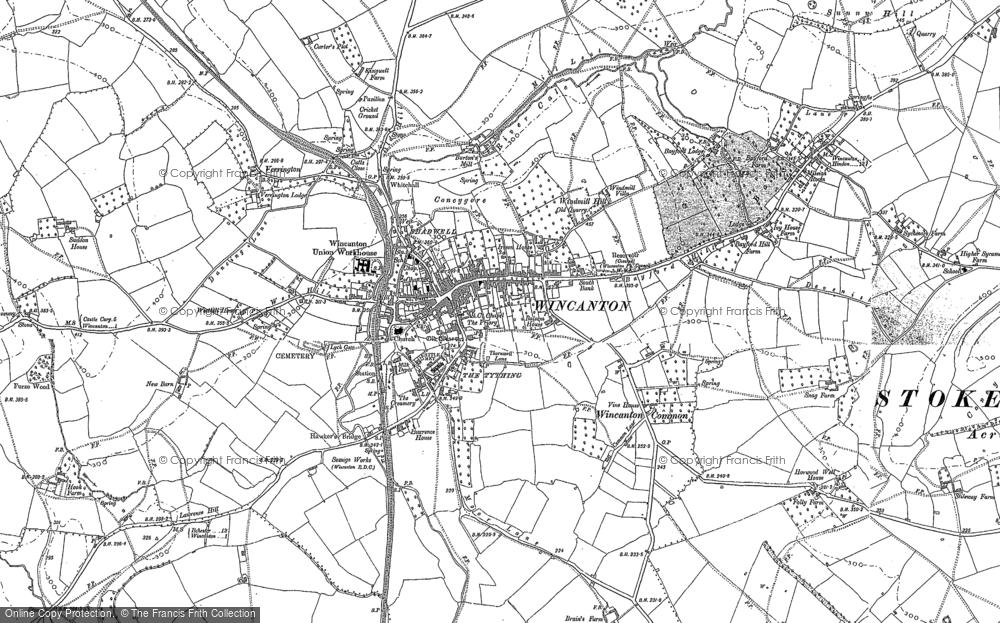 Map of Wincanton, 1885 - 1902