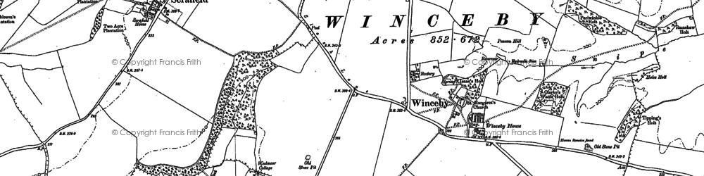 Old map of Winceby in 1887