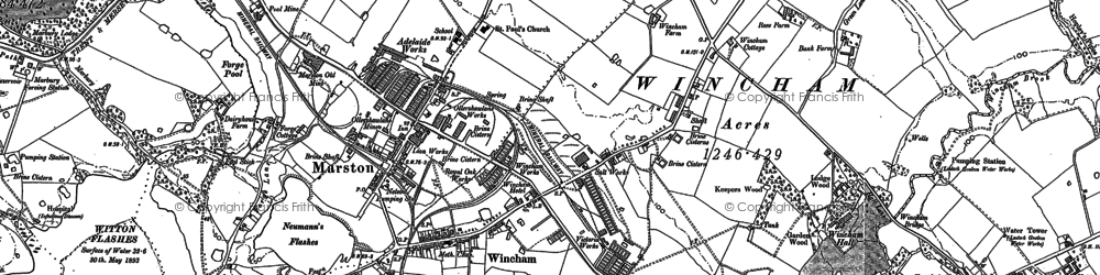 Old map of Wincham in 1897