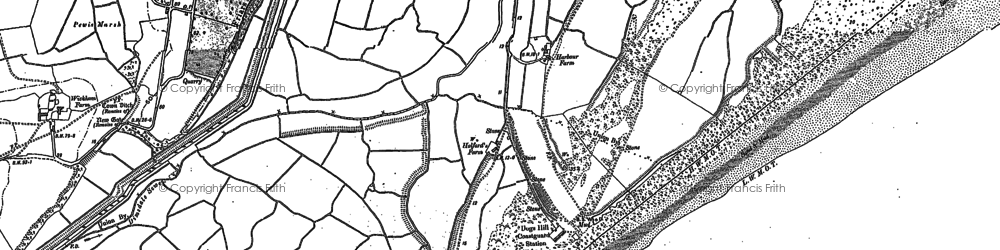 Old map of Winchelsea Beach in 1907