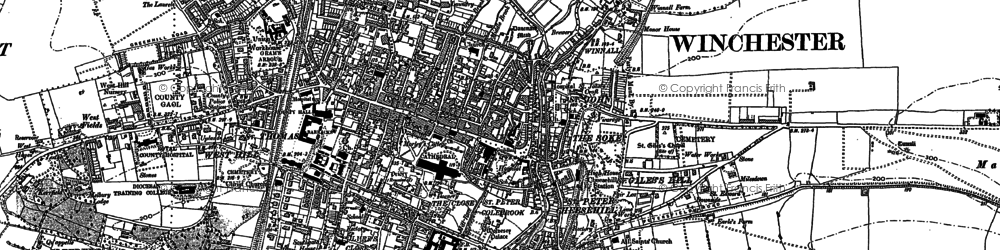 Old map of Winchester in 1895