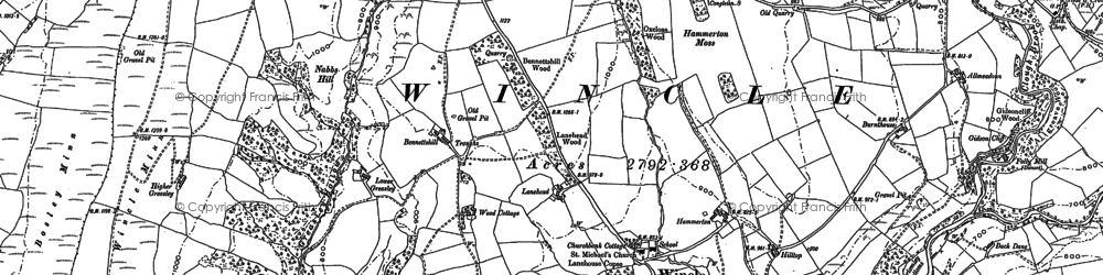 Old map of Withenshaw in 1907