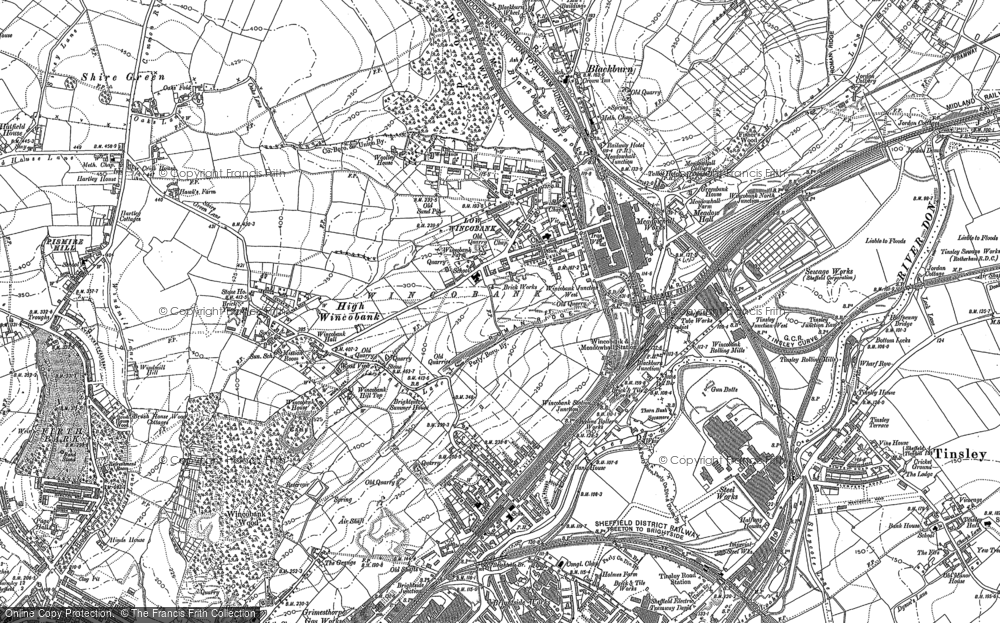 Map of Wincobank, 1890 - 1892