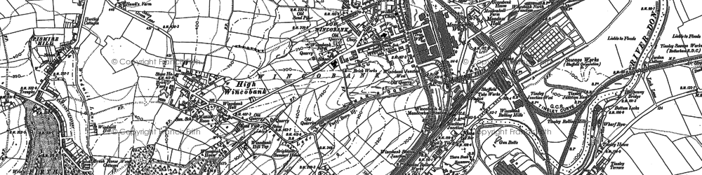 Old map of Wincobank in 1890
