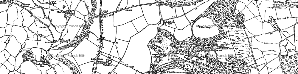 Old map of Wincombe Park in 1900