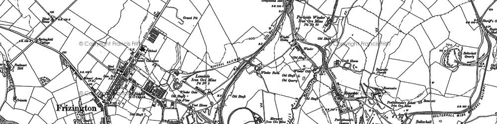Old map of Winder Brow in 1898