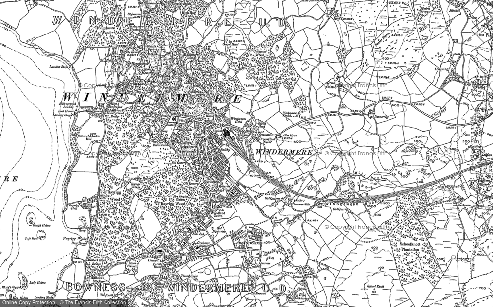 Old Map of Historic Map covering Banner Rigg in 1911