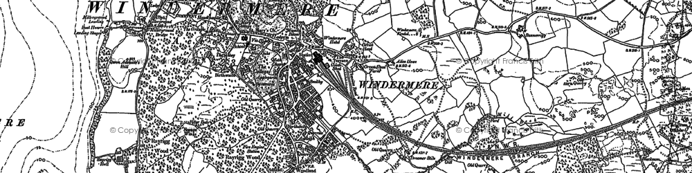 Old map of Windermere in 1911