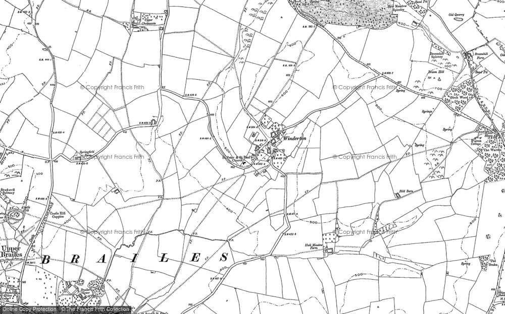 Old Map of Winderton, 1904 in 1904