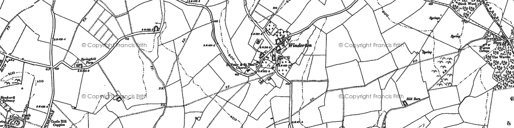 Old map of Winderton in 1904