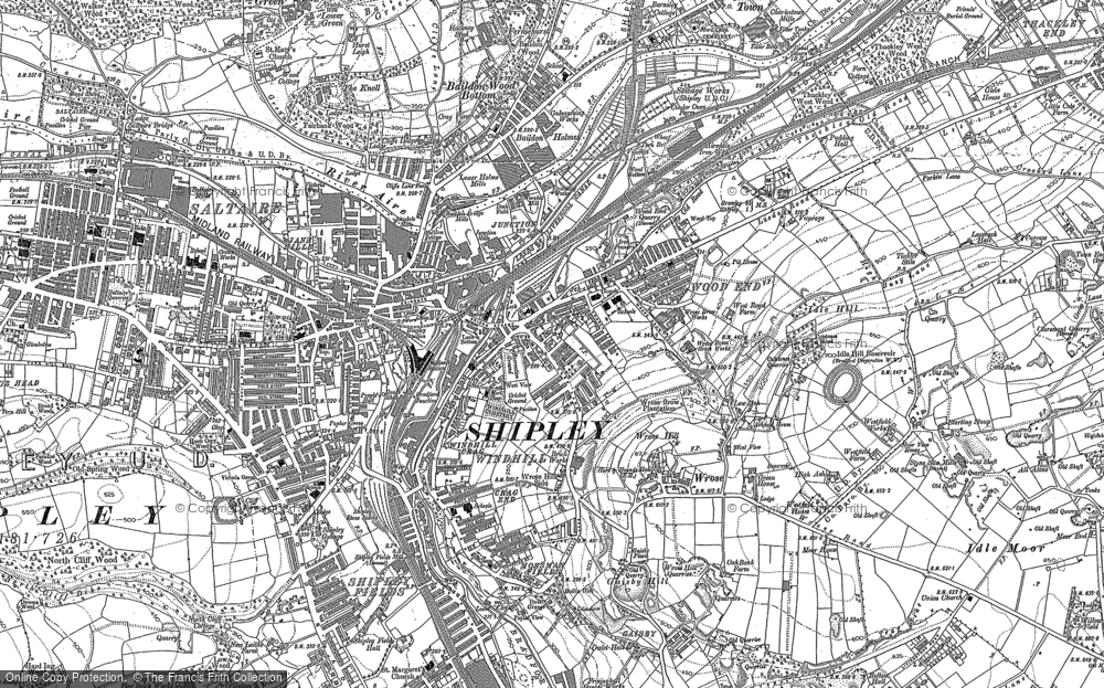 Map of Windhill, 1891