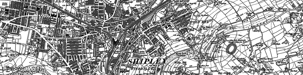 Old map of Windhill in 1891
