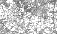 Old Map of Windlesham, 1912