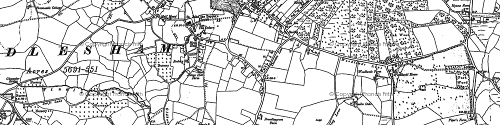 Old map of Windlesham Park in 1912
