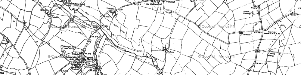 Old map of Windmill in 1880