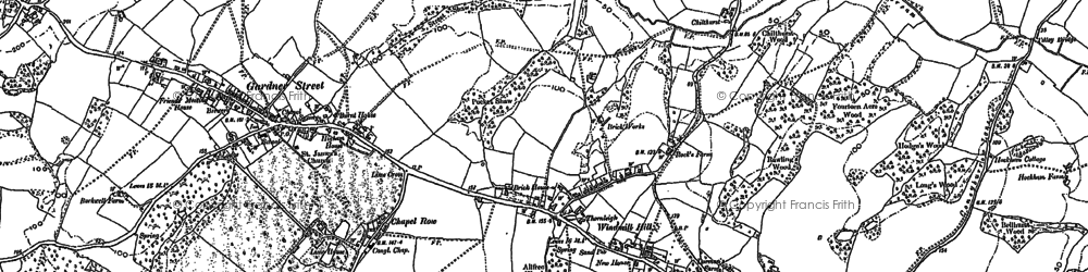 Old map of Windmill Hill in 1897