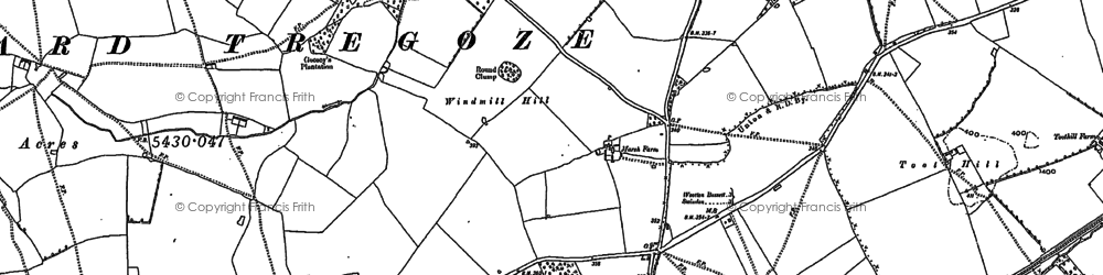 Old map of Wootton Meadows in 1899