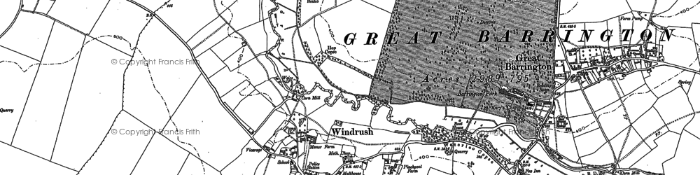 Old map of Windrush in 1900