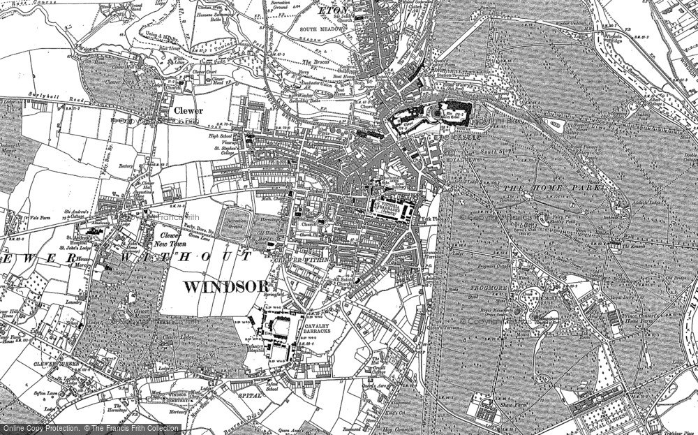 Old Map of Windsor, 1910 in 1910