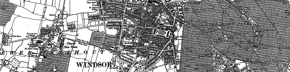 Old map of Clewer Green in 1910
