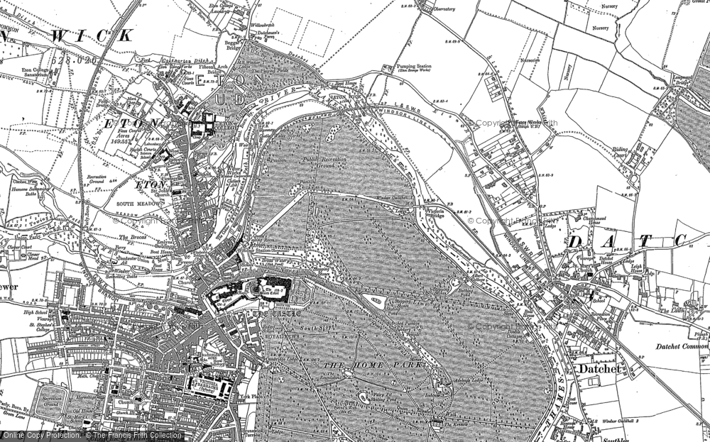 Historic Map Of Home Park The