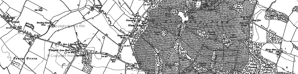 Old map of Whitefield Lane End in 1891