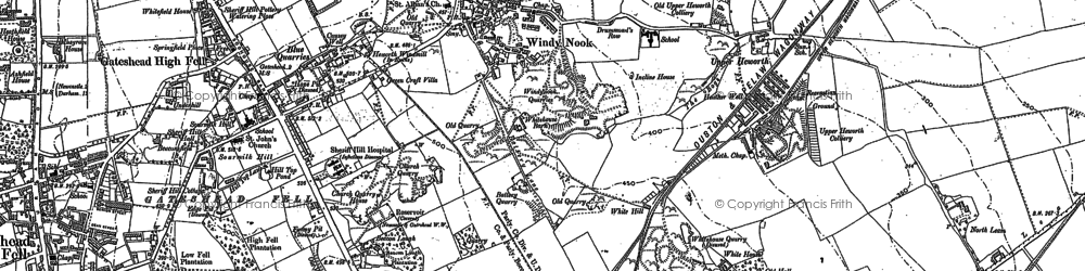 Old map of Whitehills in 1895