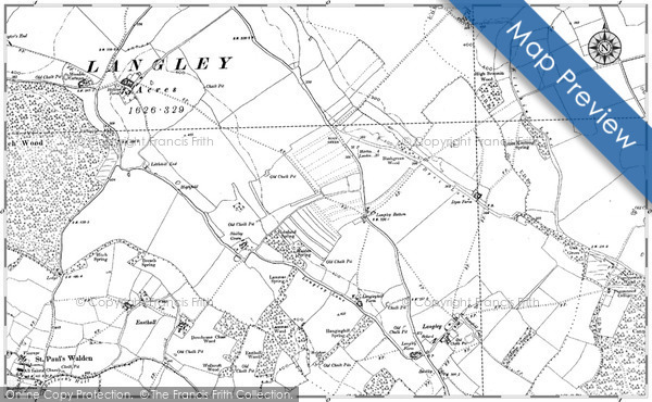 Old Map of Historic Map covering Leuchatsbeath in 1897