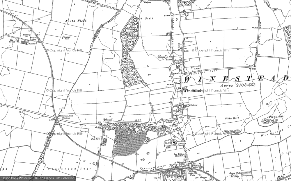 Old Map of Winestead, 1908 in 1908