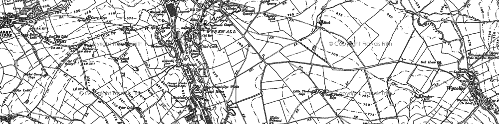 Old map of Winewall in 1891