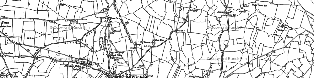 Old map of Winford in 1883