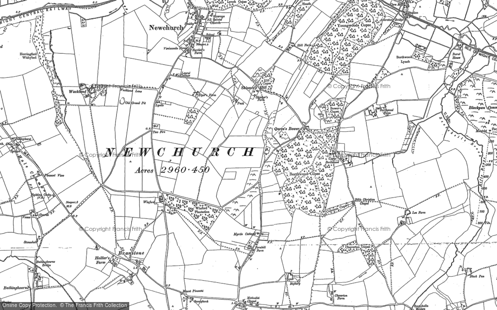 Old Map of Winford, 1896 - 1907 in 1896