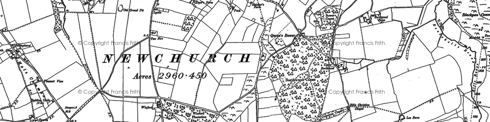 Old map of Winford in 1896