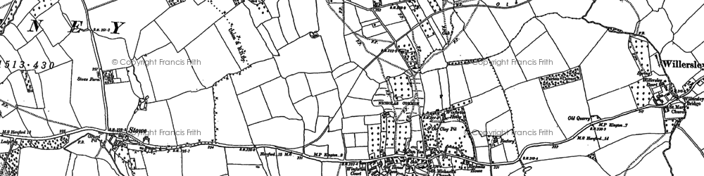 Old map of Winforton in 1886
