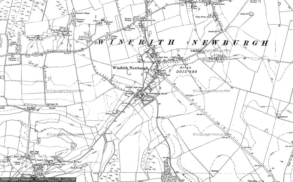 Map of Winfrith Newburgh, 1886