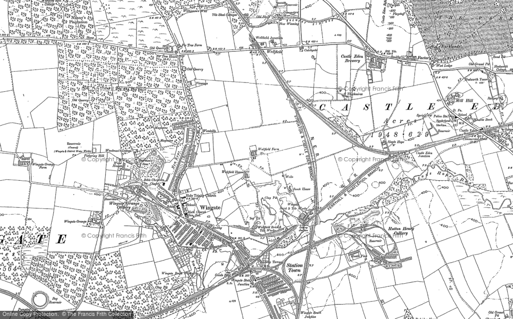 Map of Wingate, 1896