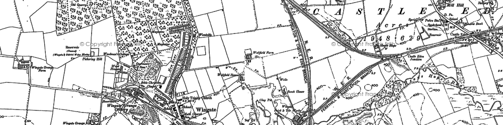 Old map of Wingate in 1896