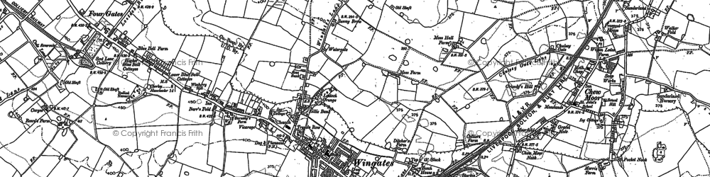 Old map of Wingates in 1892
