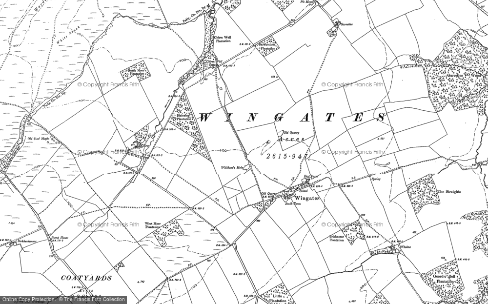 Old Map of Historic Map covering Todburn in 1896
