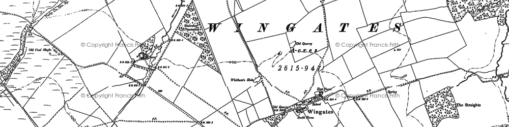 Old map of Wingates in 1896