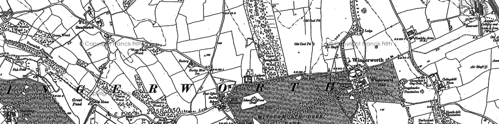 Old map of Wingerworth in 1877