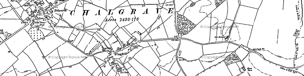 Old map of Wingfield in 1881