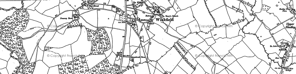 Old map of Wingfield Ho in 1922
