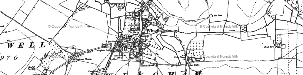 Old map of Witherdens Hall in 1896
