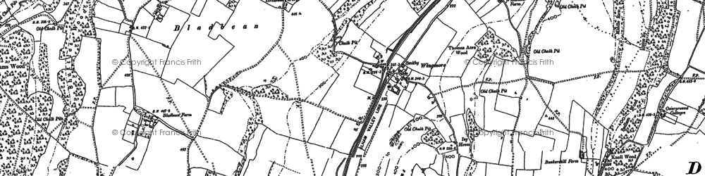 Old map of Wingmore in 1896
