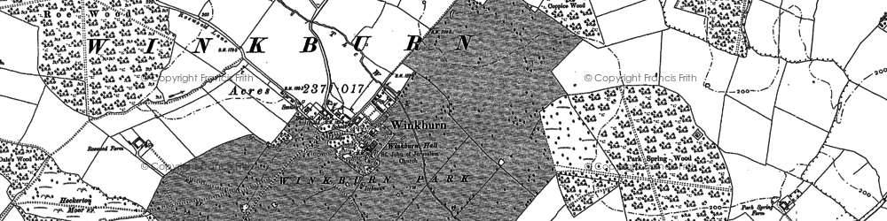 Old map of Wink, The in 1884
