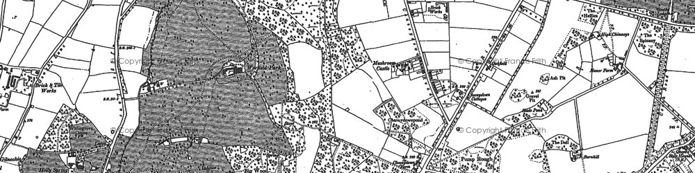 Old map of Whitegrove in 1898