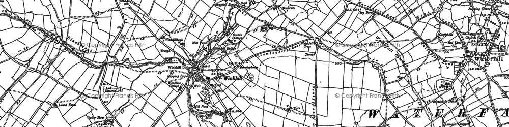 Old map of Winkhill in 1880