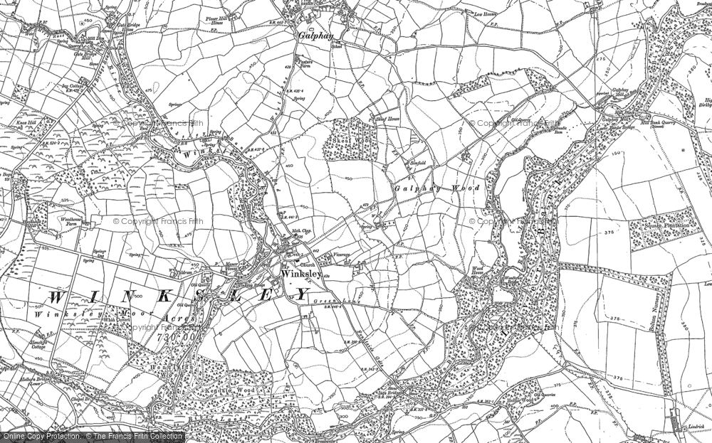 Old Map of Winksley, 1907 - 1908 in 1907