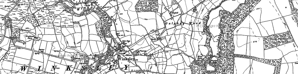 Old map of Winksley in 1907